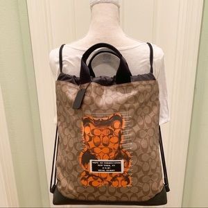 Coach Bags - Coach drawstring bear gummy Backpack bag orange